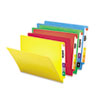 SMD25013 Colored File Folders, Straight Cut Reinforced End Tab, Letter, Assorted, 100/Box SMD 25013