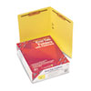 SMD25940 Two-Inch Capacity Fastener Folders, Straight Tab, Letter, Yellow, 50/Box SMD 25940
