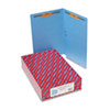 SMD28040 Two-Inch Capacity Fastener Folders, Straight Tab, Legal, Blue, 50/Box SMD 28040