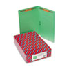 SMD28140 Two-Inch Capacity Fastener Folders, Straight Tab, Legal, Green, 50/Box SMD 28140