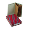 SMD29820 Pressboard End Tab Classification Folder, Legal, 8-Section, Gray-Green, 10/Box SMD 29820