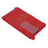 SMD63950 End Tab Out Guides with Pockets, Poly, Legal, Red, 25/Box SMD 63950