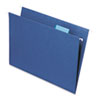 SMD64057 Hanging File Folders, 1/5 Tab, 11 Point Stock, Letter, Navy, 25/Box SMD 64057