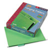 SMD64061 Hanging File Folders, 1/5 Tab, 11 Point Stock, Letter, Bright Green, 25/Box SMD 64061