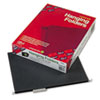 SMD64062 Hanging File Folders, 1/5 Cut, 11 Point Stock, Letter, Black, 25/Box SMD 64062