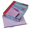 SMD64064 Hanging File Folders, 1/5 Tab, 11 Point Stock, Letter, Lavender, 25/Box SMD 64064