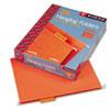 SMD64065 Hanging File Folders, 1/5 Tab, 11 Point Stock, Letter, Orange, 25/Box SMD 64065