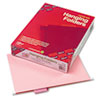 SMD64066 Hanging File Folders, 1/5 Tab, 11 Point Stock, Letter, Pink, 25/Box SMD 64066