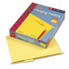 SMD64069 Hanging File Folders, 1/5 Tab, 11 Point Stock, Letter, Yellow, 25/Box SMD 64069
