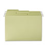 SMD64082 FasTab Hanging File Folders, 1/3 Tab, Letter, Moss Green, 20/Box SMD 64082