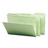 SMD64083 FasTab Hanging File Folders, 1/3 Tab, Legal, Moss Green, 20/Box SMD 64083