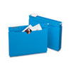SMD64200 Hanging Flat File Jackets, 1/5 Tab, 11 Point Stock, Letter, Sky Blue, 25/Box SMD 64200