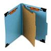 SMD65105 Four Section Hanging Classification Folder, Pressboard/Kraft, Letter, Blue SMD 65105