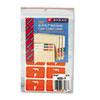 SMD67176 Alpha-Z Color-Coded Second Letter Labels, Letter F, Orange, 100/Pack SMD 67176