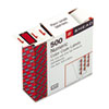 SMD67371 Single Digit End Tab Labels, Number 1, Red-on-White, 500/Roll SMD 67371