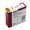 SMD67372 Single Digit End Tab Labels, Number 2, Light Orange-on-White, 500/Roll SMD 67372