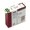 SMD67374 Single Digit End Tab Labels, Number 4, Light Green-on-White, 500/Roll SMD 67374
