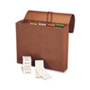 SMD70540 Accordion Expanding File, 6 Pockets, 1/5 Tab, Leather-Like Redrope, Letter, Red SMD 70540