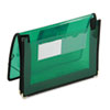 SMD71951 2 1/4 Inch Accordion Expansion Wallet, Poly, Letter, Translucent Green SMD 71951