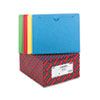 Smead Colored File Jackets with Reinforced Double-Ply Tab