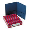 SMD87854 Two-Pocket Portfolio, Embossed Leather Grain Paper, Dark Blue, 25/Box SMD 87854