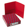 SMD87859 Two-Pocket Portfolio, Embossed Leather Grain Paper, Red, 25/Box SMD 87859