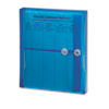 SMD89522 Poly String & Button Booklet Envelope, 9 3/4 x 11 5/8 x 1 1/4, Blue, 5/Pack SMD 89522