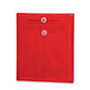 SMD89547 Poly String & Button Envelope, 9 3/4 x 11 5/8 x 1 1/4, Red, 5/Pack SMD 89547
