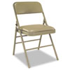 CSC60883TAP4 Deluxe Vinyl Padded Seat & Back Folding Chairs, Taupe, 4/Carton CSC 60883TAP4