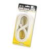 SOF42215 Coiled Phone Cord, Plug/Plug, 25 ft., Ash SOF 42215