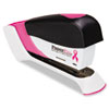 15-sheet capacity stapler features a spring-powered mechanism, with proceeds being donated to CancerCare®.