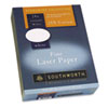 SOU3172410 25% Cotton Laser Paper, White, 24 lbs., Smooth Finish, 8-1/2 x 11,  500/Box SOU 3172410