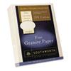 SOU934C Granite Specialty Paper, Ivory, 24 lbs., 8-1/2 x 11, 25% Cotton, 500/Box SOU 934C