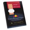 SOURD18BCFLN 100% Cotton Linen Resume Paper, Blue, 32 lbs., 8-1/2 x 11, 100/Box SOU RD18BCFLN