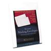 SOURF6Q 25% Cotton Resume Envelopes,White, 24 lbs.,  9 x 12, Wove, 25/Box SOU RF6Q