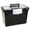 STX61510U01C Portable File Storage Box w/Organizer Lid, Letter/Legal, Black STX 61510U01C