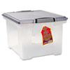 STX61530U01C Portable File Tote w/Locking Handle Storage Box, Letter/Legal, Clear STX 61530U01C