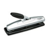 SWI74026 LightTouch Desktop Three-Hole Punch, 9/32