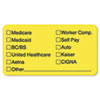 TAB02940 Labels for Insurance List, 1-3/4 x 3-1/4, Yellow, 250/Roll TAB 02940
