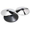 TCO11501 Adjusta-Tape Crowd Control Stanchion Bases, Chrome, 14