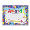 TEPT2951 Certificates of Award, 8-1/2 x 11, 30/Pack TEP T2951