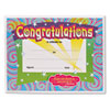 TEPT2954 Congratulations Certificates, 8-1/2 x 11, White Border, 30/Pack TEP T2954