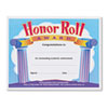 TEPT2959 Honor Roll Award Certificates, 8-1/2 x 11, 30/Pack TEP T2959
