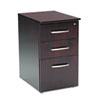 MLNNBBFMAH Napoli Veneer Box/Box/File Pedestal, 15¼w x 21¼d x 26h, Mahogany MLN NBBFMAH