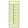 TOP1257 Time Card for Acroprint and Simplex, Weekly, Two-Sided, 3-1/2 x 9, 500/Box TOP 1257