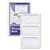 TOP4006 Spiralbound Message Book, 2 5/6 x 5, Carbonless Duplicate, 300 Sets/Book TOP 4006