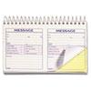 TOP4007 Spiralbound Message Book, 4 1/4 x 5, Carbonless Duplicate, 200 Sets/Book TOP 4007