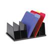 UNV08125 Large Desktop Sorter, Five Sections, Plastic, 13 1/2 x 9 1/8 x 5, Black UNV 08125