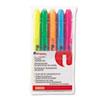 UNV08850 Pocket Highlighter, Chisel Tip, Fluorescent Colors, 5/Set UNV 08850