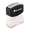 UNV10043 Message Stamp, APPROVED, Pre-Inked/Re-Inkable, Blue UNV 10043